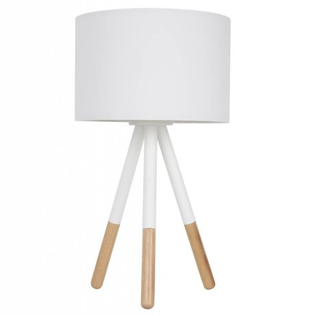 Zuiver Table lamp Highland metal / wood white Ø30xH54cm