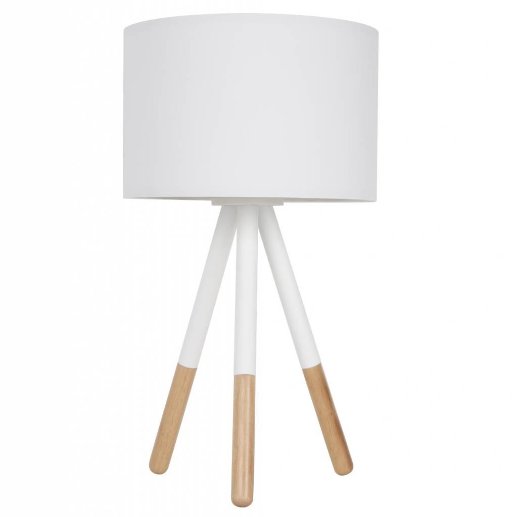 latest zuiver lampada da tavolo highland metallo legno bianco xhcm with lampade da tavolo in legno