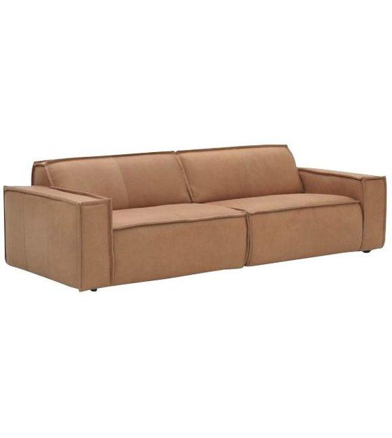 fest amsterdam ledercouch edge 3 sitzer braun. Black Bedroom Furniture Sets. Home Design Ideas