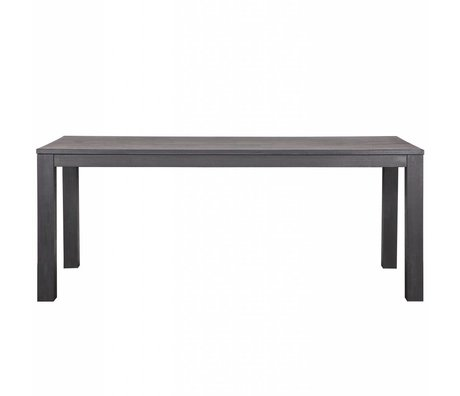 LEF collections Dining table Largo Blacknight oak dark gray 230x90x78cm