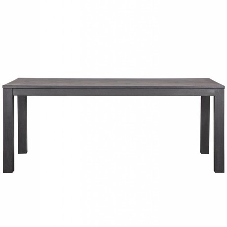 LEF collections Table à manger Largo Blacknight chêne 230x90x78cm gris foncé