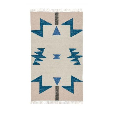 ferm living tapis kilim lignes noires 2 tailles 80x140cm. Black Bedroom Furniture Sets. Home Design Ideas