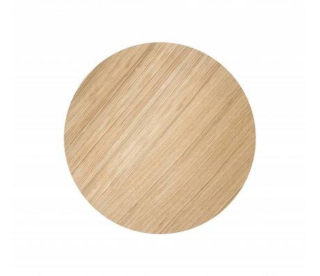 Ferm Living Sheet metal basket Ø40cm oiled oak veneer
