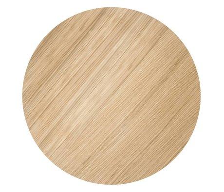Ferm Living Sheet metal basket ø50cm oiled oak veneer