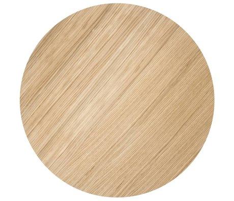 Ferm Living Holzplatte für Metall-Korb, geölte Eichenfurnier, Ø60cm