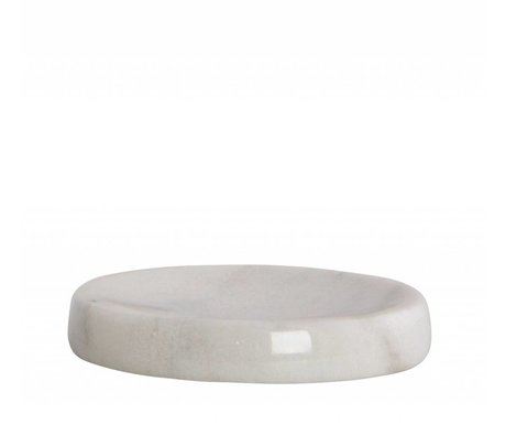 Housedoctor Soap Dish Marble gray ø12x2cm
