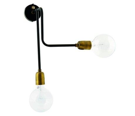 Housedoctor Duvar lambası Moleküler metal siyah altın 30x22x45cm