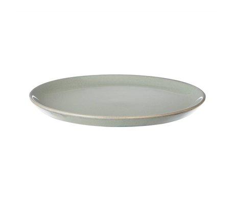 Ferm Living Teller Neu aus glasiertem Stein, grau, Ø22cm