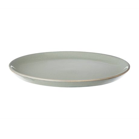 Ferm Living Bandeja de la placa Neu piedra gris acristalada pequeña ø22cm