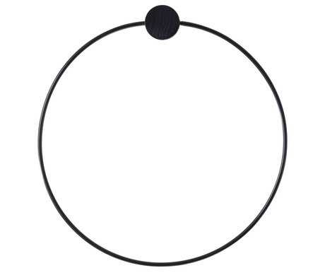 Ferm Living Towel Ring black metal ø20,5cm