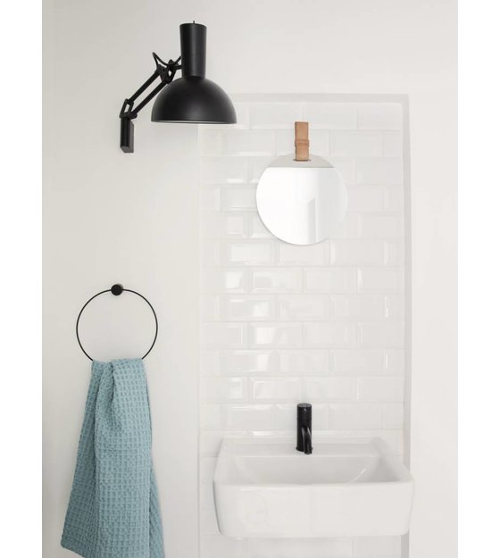 ferm living handtuchring aus metall schwarz 20 5cm. Black Bedroom Furniture Sets. Home Design Ideas