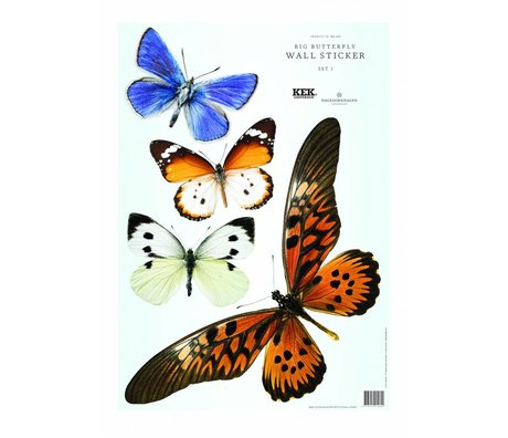 Kek Amsterdam Wall Stickers Butterfly Set 1 (4 sommerfugle)
