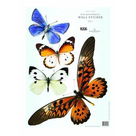 Kek Amsterdam Duvar Etiketler Kelebek Set 1 (4 kelebekler)