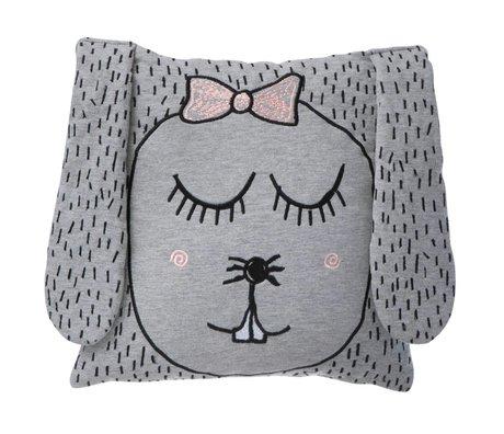 Ferm Living Kast Pillow / Plush Lille Ms Kanin grå 30x30cm