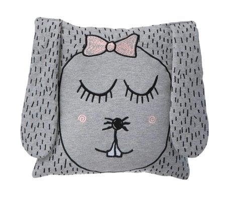 Ferm Living Tiro cuscino / peluche piccolo Ms. Coniglio 30x30cm grigio