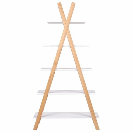 LEF collections Tipi white pine bookcase 39x85x177cm