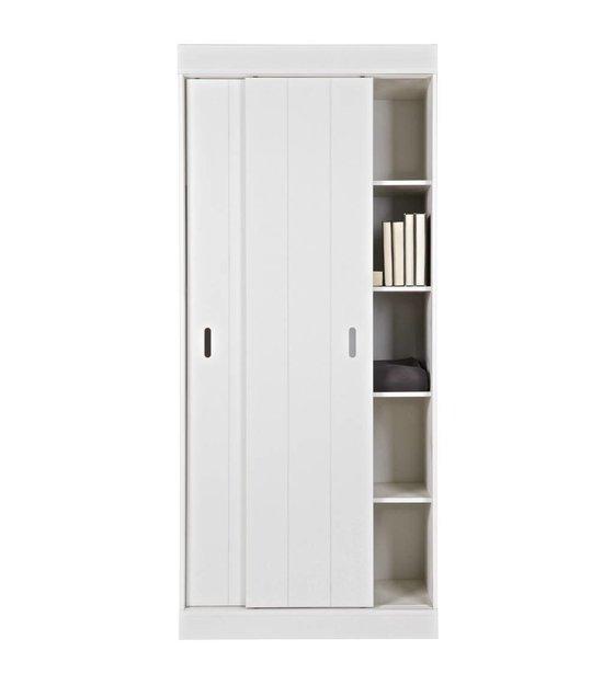 LEF collections Scaffali armadio Row con ante scorrevoli bianco ...