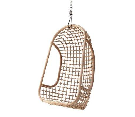 hk living h ngesessel aus rattan wei 55x72x110cm. Black Bedroom Furniture Sets. Home Design Ideas