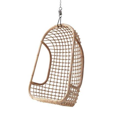 HK-living Rattan yapılmış asılı sandalye, parlak doğası, 55x72x110cm
