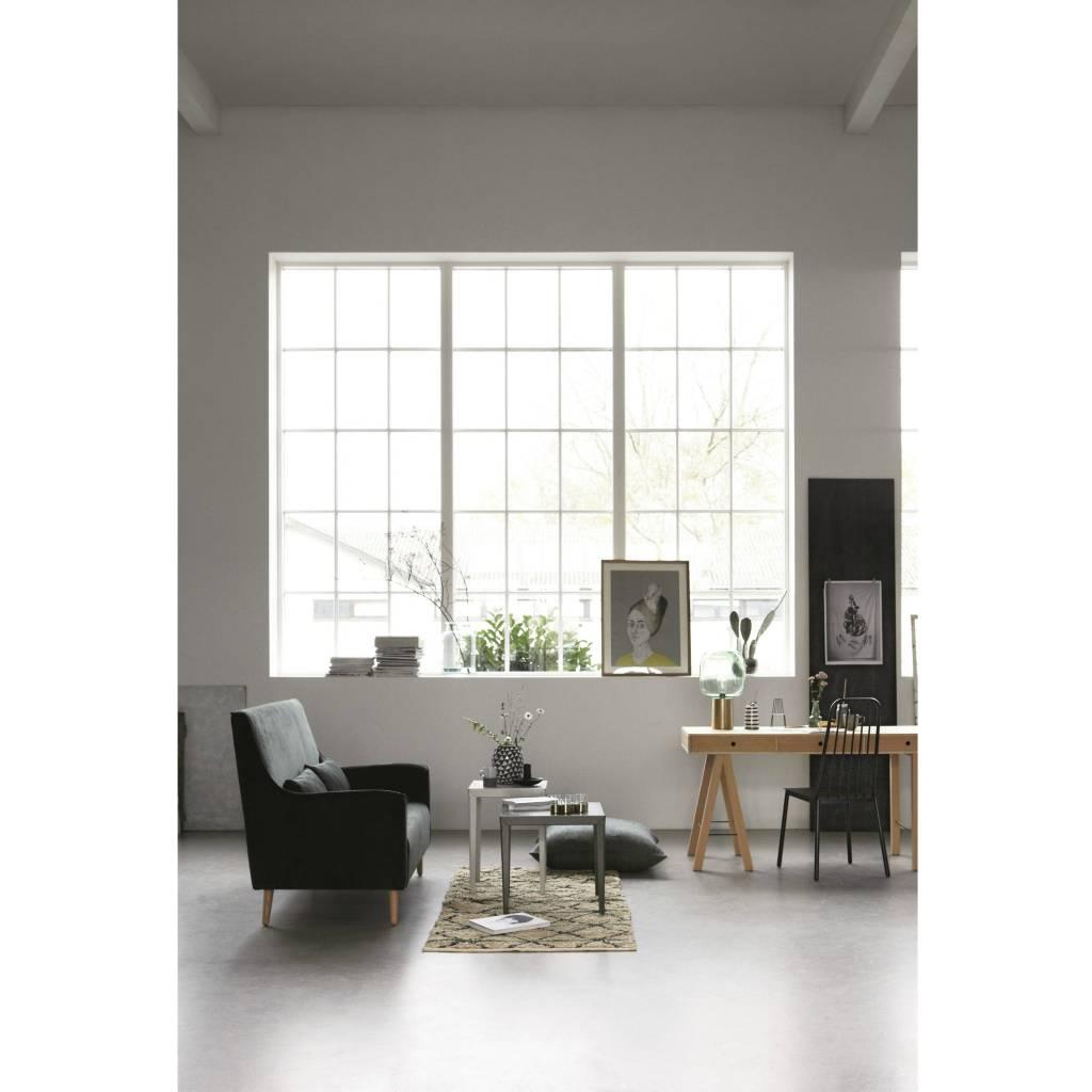 housedoctor tapis g om trie vert vert noir beige toile 90x200cm. Black Bedroom Furniture Sets. Home Design Ideas