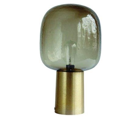 Housedoctor Bordlampe Bemærk grånende glas guld aluminium ø28x52cm