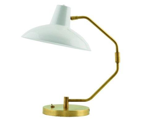 Housedoctor Lampe de table bureau métallique gris mat ø31x48cm d'or