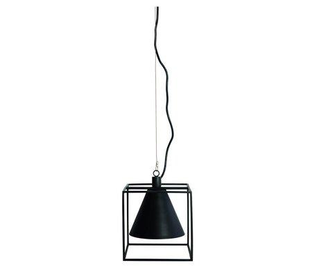 Housedoctor Hängelampe Kubix aus Metall, schwarz/weiß, 18x18 cm, H 18 cm