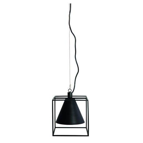 Housedoctor Asılı lamba Kubix siyah beyaz metal 18x18 cm, h18 cm