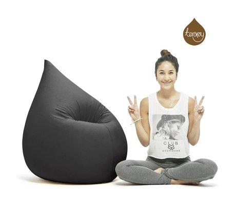 Terapy Beanbag Elly goteo de algodón negro 100x80x50cm 230 litros