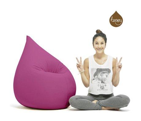 Terapy Beanbag Elly drop lyserød bomuld 100x80x50cm 230liter