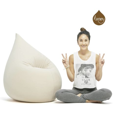 Terapy Beanbag Elly drop off white cotton 100x80x50cm 230liter