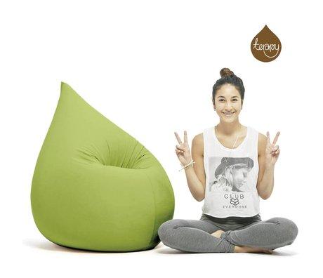 Terapy Beanbag Elly drop grøn bomuld 100x80x50cm 230liter