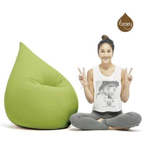 Terapy Sitzsack Elly Tropf aus Baumwolle, grün, 100x80x50cm 230 Liter
