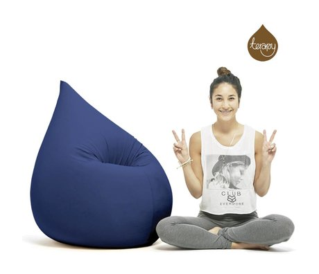 Terapy Beanbag Elly mavi pamuklu 100x80x50cm 230liter açılan