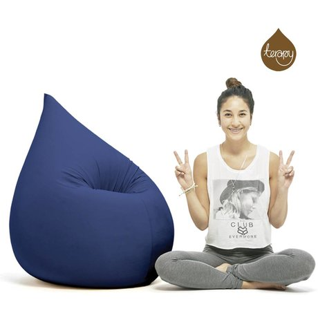 Terapy Beanbag Elly drop blue cotton 100x80x50cm 230liter