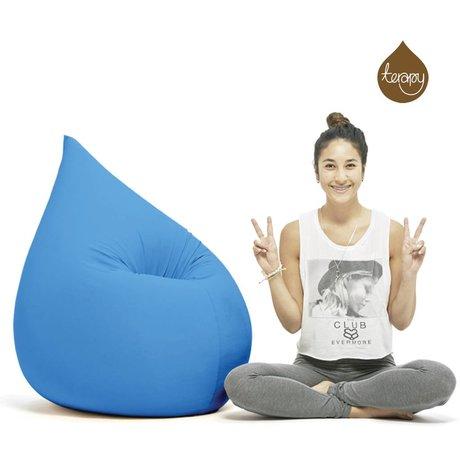 Terapy Beanbag Elly cadere turchese cotone 100x80x50cm 230 litro