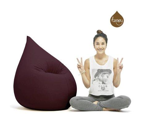 Terapy Sitzsack Elly Tropf aus Baumwolle, aubergine, 100x80x50cm 230 Liter