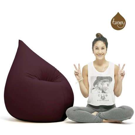 Terapy Beanbag Elly drop aubergine bomuld 100x80x50cm 230liter