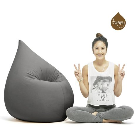 Terapy Beanbag Elly drop dark gray cotton 100x80x50cm 230liter