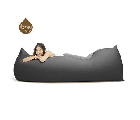 Terapy Beanbag Baloo'nun siyah pamuklu 180x80x50cm 700liter