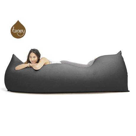 Terapy Beanbag Baloo sort bomuld 180x80x50cm 700liter