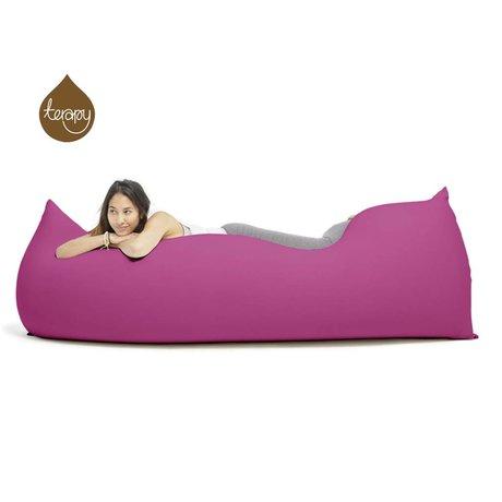 Terapy Pouf Baloo coton rose 180x80x50cm 700liter