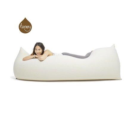 Terapy Pouf Baloo hors coton blanc 180x80x50cm 700liter