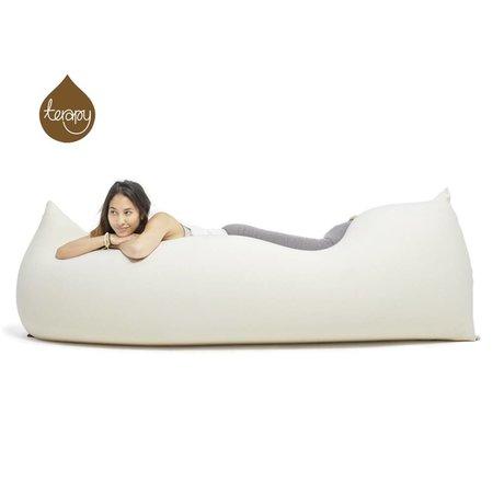 Terapy Beanbag Baloo'nun kirli beyaz bir pamuklu 180x80x50cm 700liter