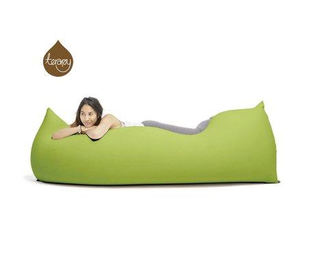 Terapy Beanbag Baloo grøn bomuld 180x80x50cm 700liter