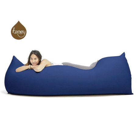 Terapy Beanbag Baloo'nun mavi pamuklu 180x80x50cm 700liter