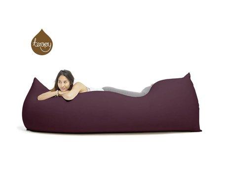 Terapy Sitzsack Baloo aus Baumwolle, aubergine, 180x80x50cm 700 Liter