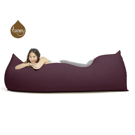 Terapy Beanbag Baloo aubergine bomuld 180x80x50cm 700liter