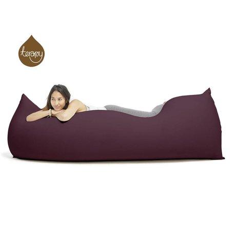 Terapy Pouf Baloo coton aubergine 180x80x50cm 700liter