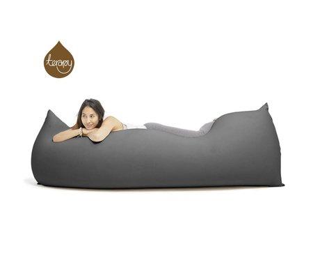 Terapy Beanbag Baloo scuro in cotone grigio 180x80x50cm 700 litro